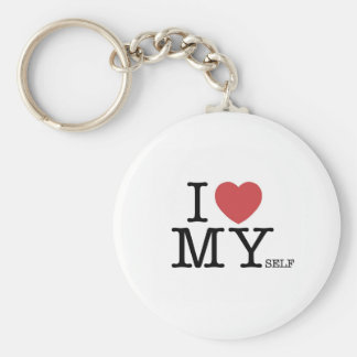 I Love MYself Key Ring