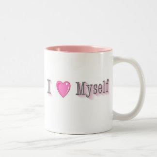I Love Myself Two-Tone Coffee Mug