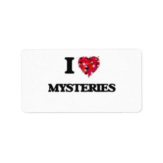 I Love Mysteries Address Label
