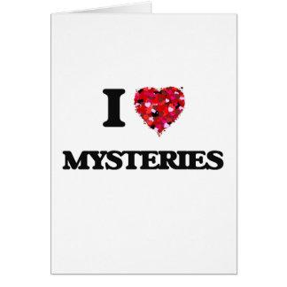 I Love Mysteries Greeting Card