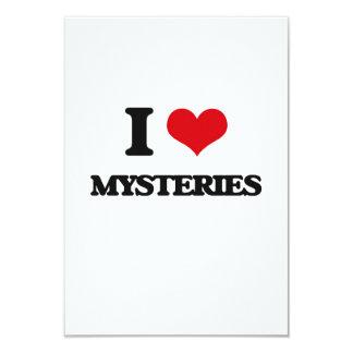 "I Love Mysteries 3.5"" X 5"" Invitation Card"