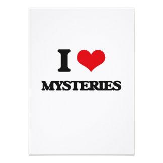 "I Love Mysteries 5"" X 7"" Invitation Card"