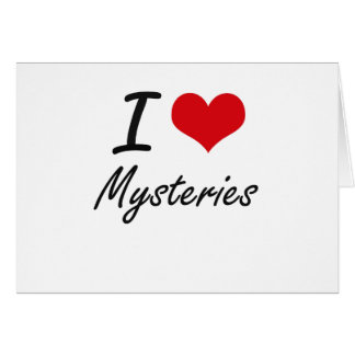 I Love Mysteries Note Card