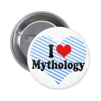 I Love Mythology 6 Cm Round Badge