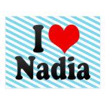 I love Nadia Post Card