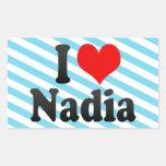 I love Nadia Rectangular Stickers