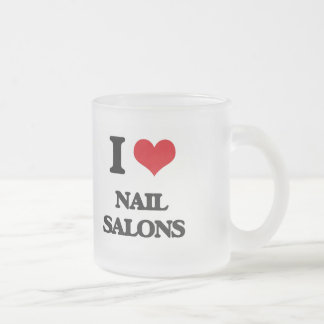 I Love Nail Salons Frosted Glass Mug