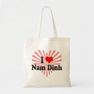 I Love Nam Dinh, Viet Nam Budget Tote Bag