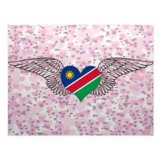 I Love Nambia -wings Postcard