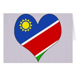 I Love Namibia Greeting Card