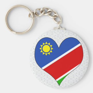 I Love Namibia Basic Round Button Key Ring