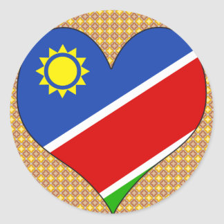 I Love Namibia Round Sticker