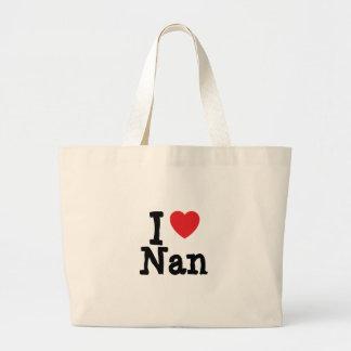 I love Nan heart T-Shirt Canvas Bags