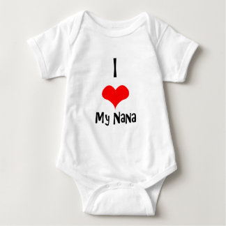 I Love nana Baby Bodysuit