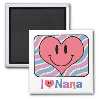 I Love Nana Square Magnet