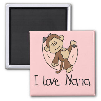 I Love Nana T-shirts and Gifts Square Magnet