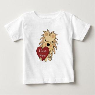I Love Nana Whimsical Lion Valentine Baby T-Shirt