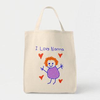 I Love Nanna Tote Bag