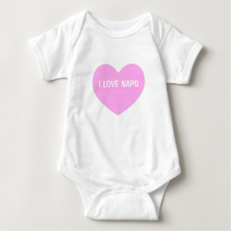 """I LOVE NAPS"" Cute Pink Heart Baby Baby Bodysuit"