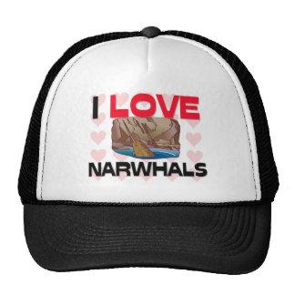 I Love Narwhals Cap