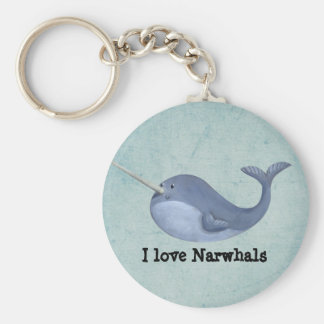 I love Narwhals Key Ring
