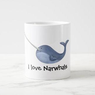 I love Narwhals Large Coffee Mug