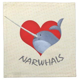I love Narwhals Napkin