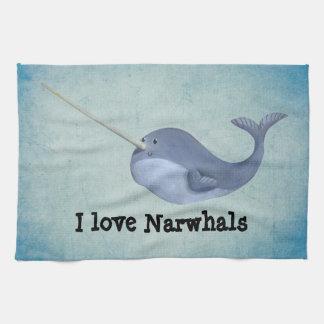 I love Narwhals Tea Towel