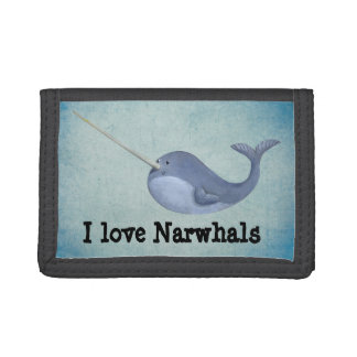 I love Narwhals Tri-fold Wallet
