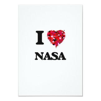 I love Nasa 9 Cm X 13 Cm Invitation Card