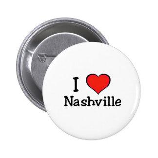 I Love Nashville Pinback Buttons