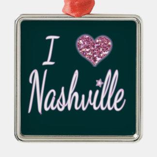 I Love Nashville Christmas Ornament