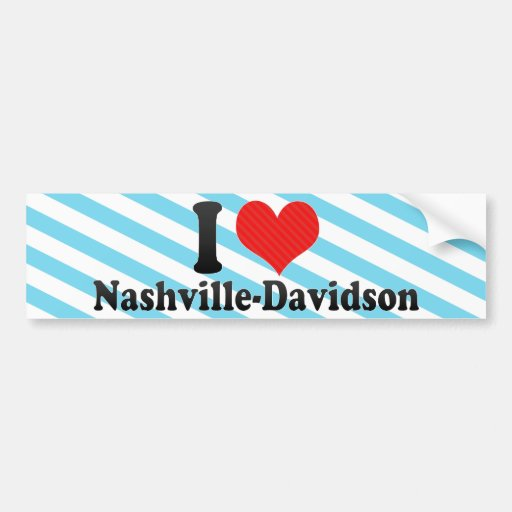 I Love Nashville-Davidson Bumper Sticker