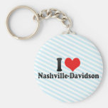 I Love Nashville-Davidson Keychains