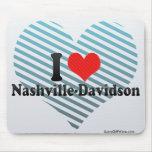 I Love Nashville-Davidson Mouse Pad