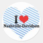 I Love Nashville-Davidson Stickers