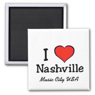 I Love Nashville Square Magnet