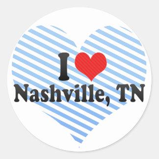 I Love Nashville, TN Round Sticker