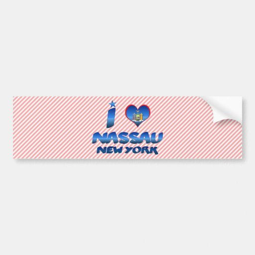 I love Nassau, New York Bumper Sticker