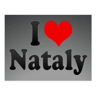 I love Nataly Post Card