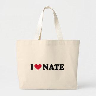 I LOVE NATE JUMBO TOTE BAG