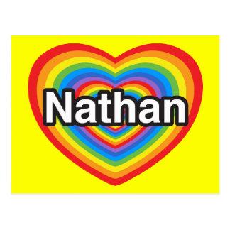 I love Nathan. I love you Nathan. Heart Postcard
