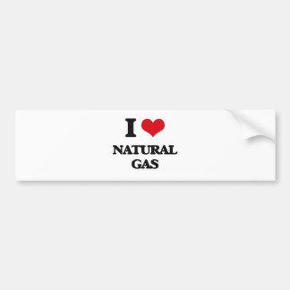 I Love Natural Gas Car Bumper Sticker