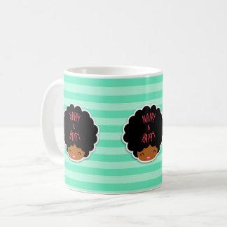 I love natural hair! Nappy and happy cute pattern Coffee Mug
