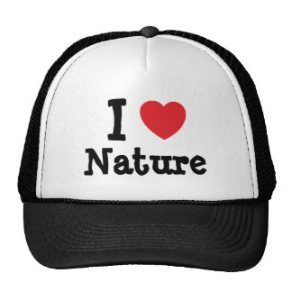 I love Nature heart custom personalized Hats