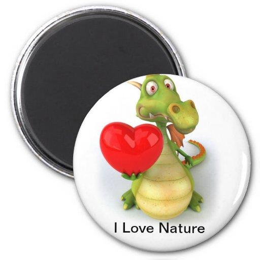 I Love Nature Refrigerator Magnets