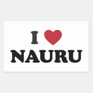 I Love Nauru Rectangular Sticker