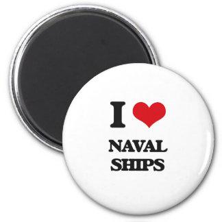 I Love Naval Ships Fridge Magnets
