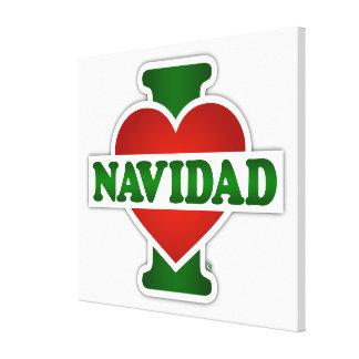 I Love Navidad Stretched Canvas Prints