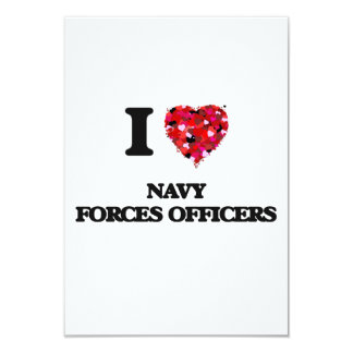 I love Navy Forces Officers 9 Cm X 13 Cm Invitation Card